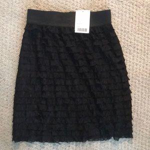 Urban Outfitters black fringe/ruffle dressy skirt
